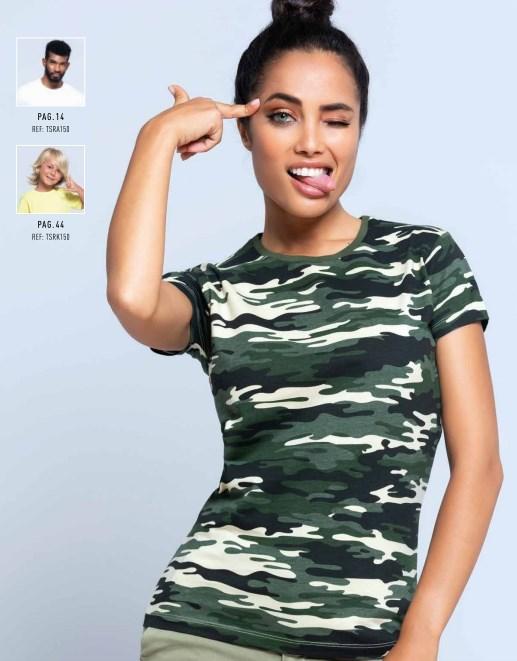 Camisetas Personalizadas Camiflaje de mujer