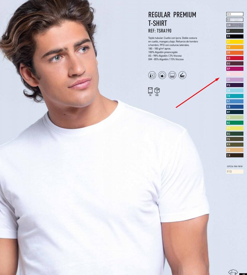 Camiseta colores personalizados de hombre